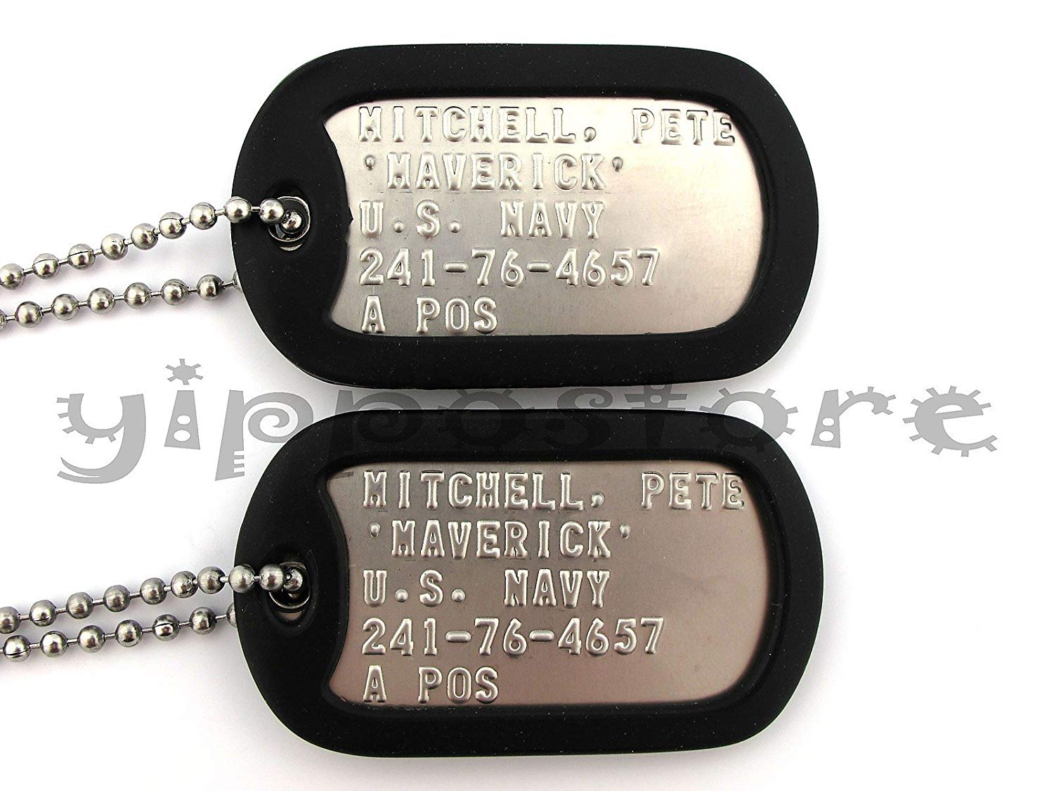 Stainless Steel Dog Tag Set