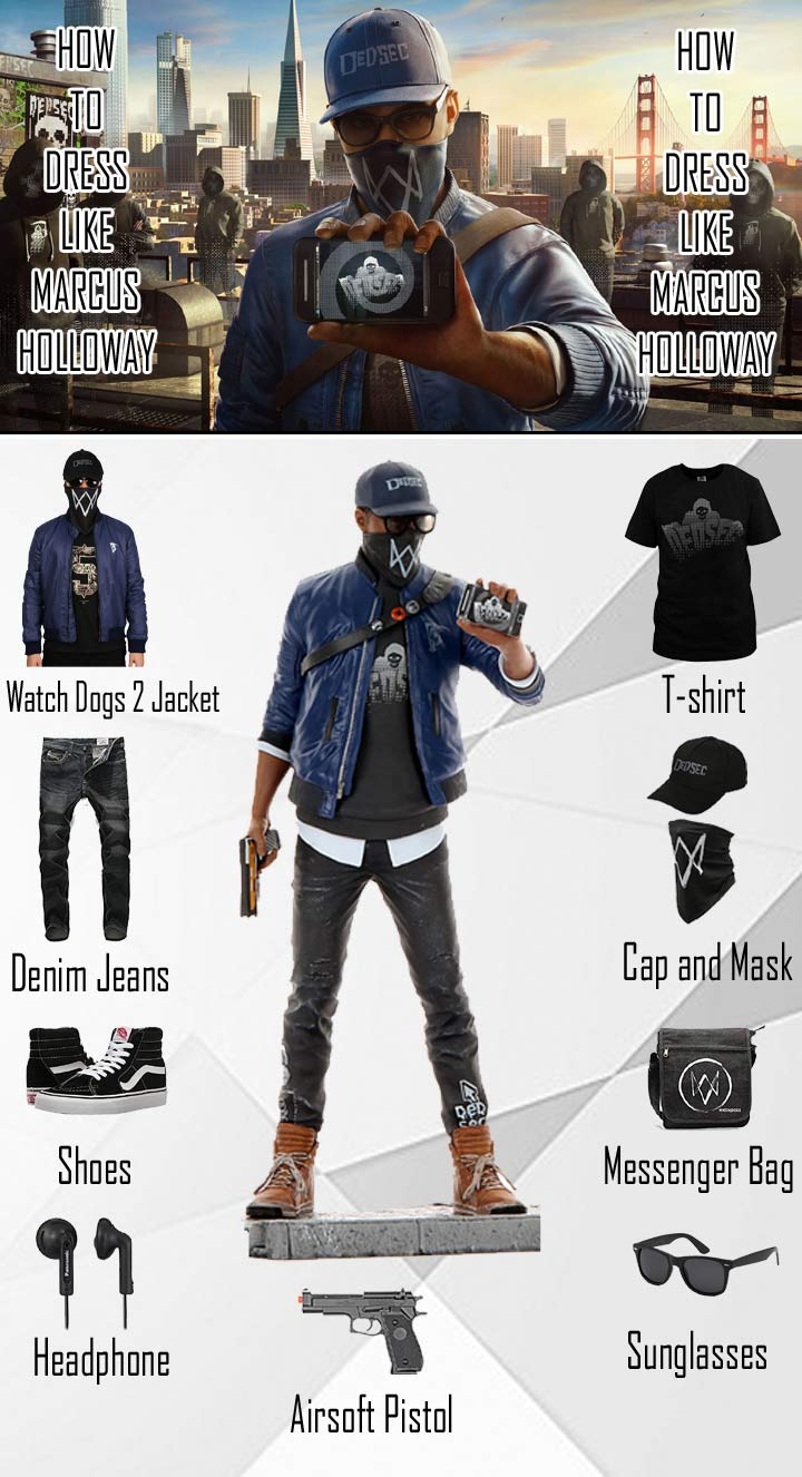 Marcus Holloway Watch Dogs 2 Costume Guide
