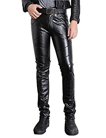 Skinny Black Biker Pants