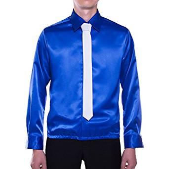 Blue Shirt w/ White Tie