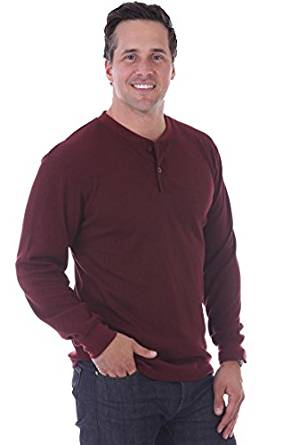 Thermal Henley Pullover Sweater