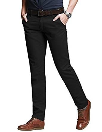 Slim Fit Black Pant