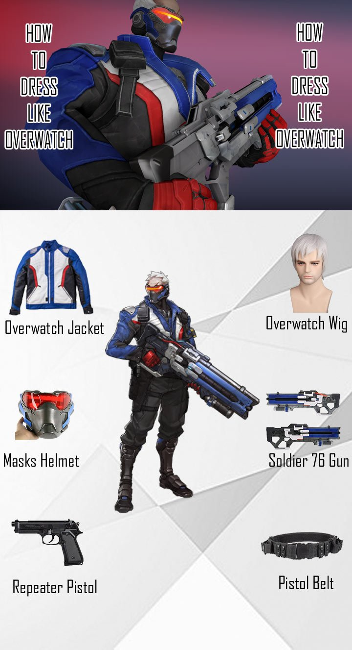 Overwatch Soldier 76 Costume Guide