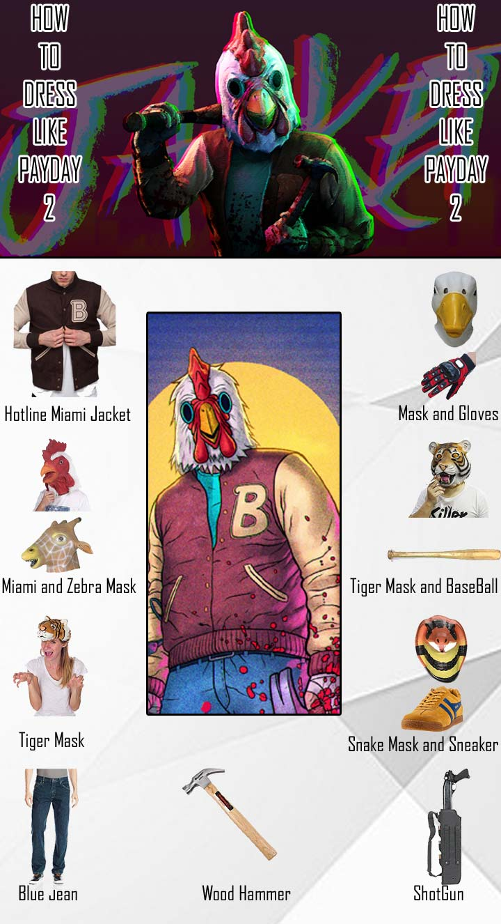 Payday 2 Hotline Miami Costume