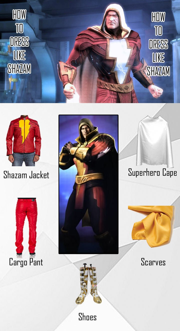 Injustice Gods Among Us Shazam Costume Guide
