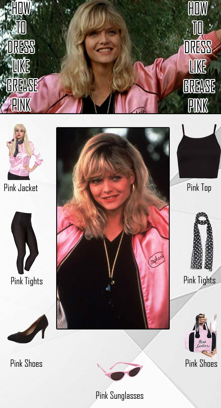 Stephanie Zinone Grease Pink Ladies Costume Guide