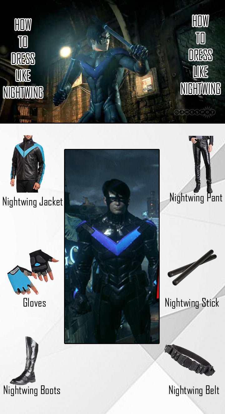 Video Game Nightwing Costume Guide