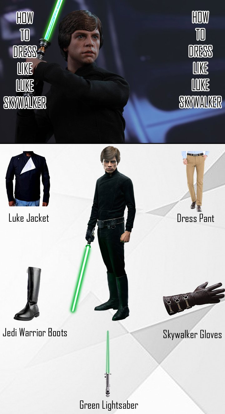 Luke SkyWalker Return of Last Jedi Costume Guide