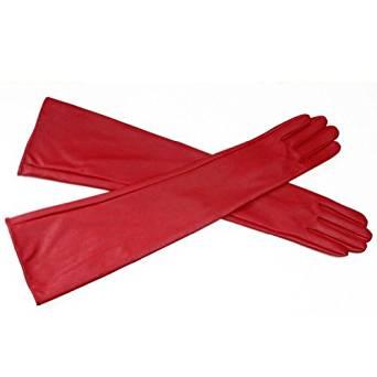 Captain Marvel Red Leather Gloves