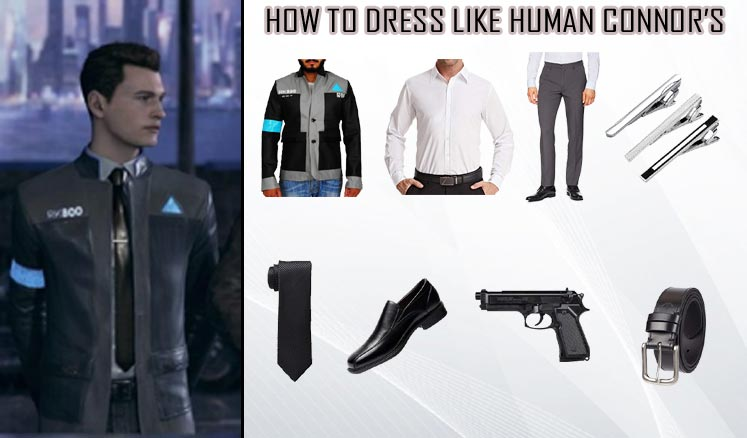 Detroit Become Human Video Game Connor Costume Guidecosplay Costumes Guides Diy Superheros And Celebrities