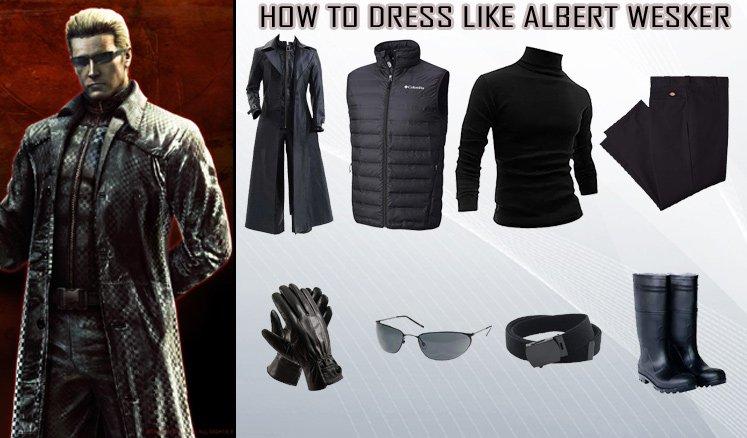 Resident Evil 5 Video Game Albert Wesker Costume Guidecosplay