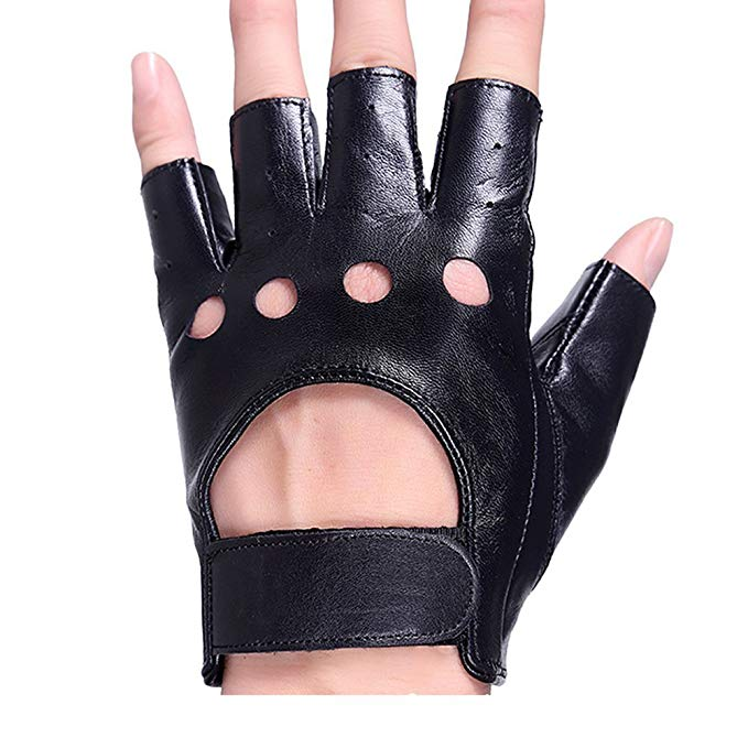 half-finger-leather-gloves