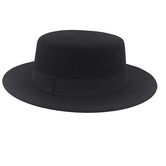 black-flat-top-hat