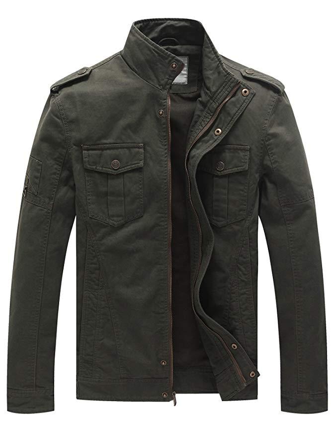 black-military-field-jacket