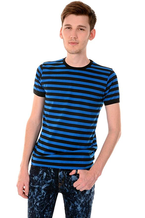 black-and-blue-horizontal-striped-tee