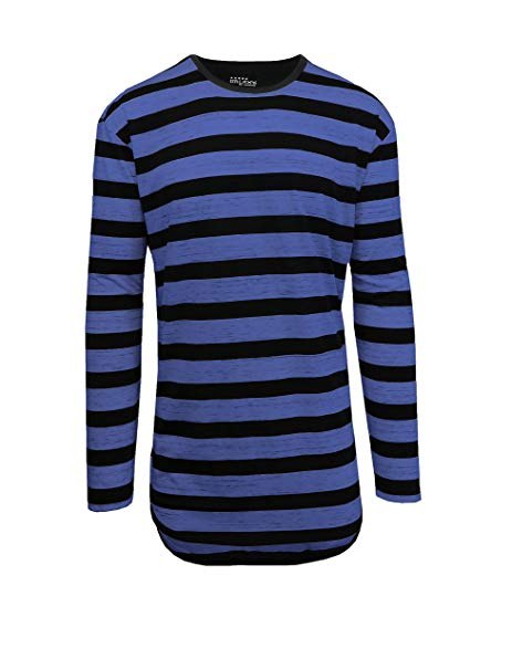 long-sleeves-striped-scallop-t-shirt