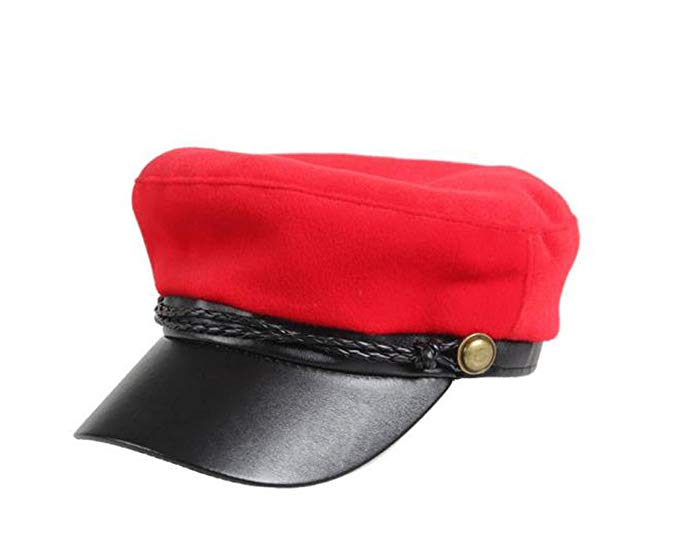 red-newsboy-hat-with-black-bill