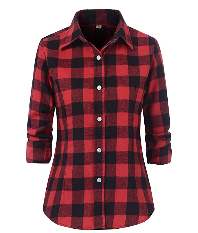red-and-black-check-flannel-plaid-shirt