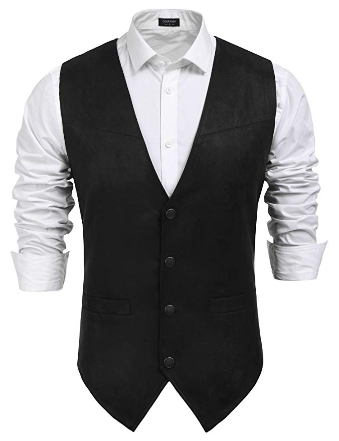 black-western-vest