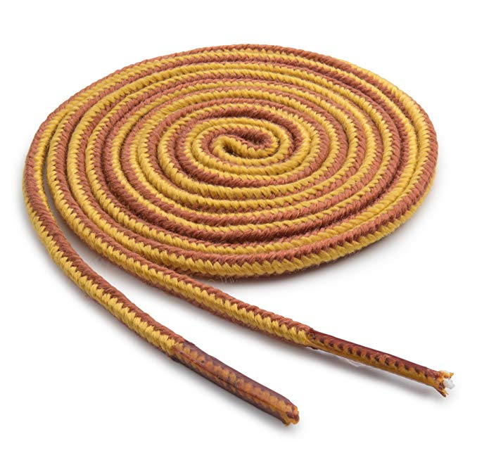 gold-and-tan-nylon-boot-shoelaces
