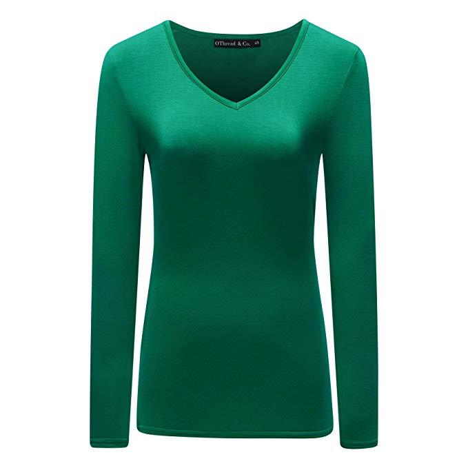 green-v-neck-shirt