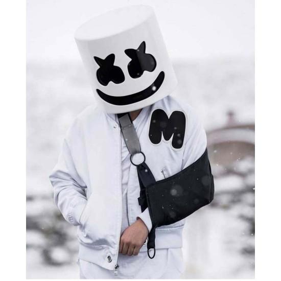 DJ Marshmello White Bomber Jacket