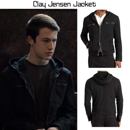Clay Jensen 13 Reasons Why Hooded Jacket