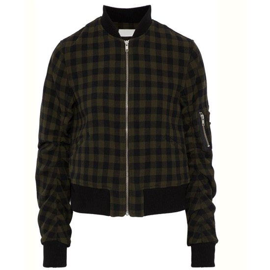 13 Reasons Why Inde Navarrette Cotton Checked Jacket