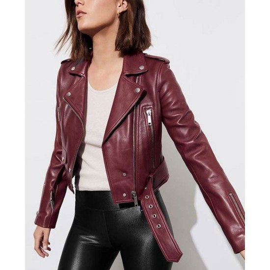 13 Reasons Why S04 Alisha Boe Biker Leather Jacket