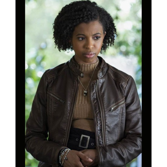 13 Reasons Why S04 Grace Saif Brown Leather Jacket