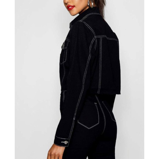 13 Reasons Why Alisha Boe Cropped Black Jacket