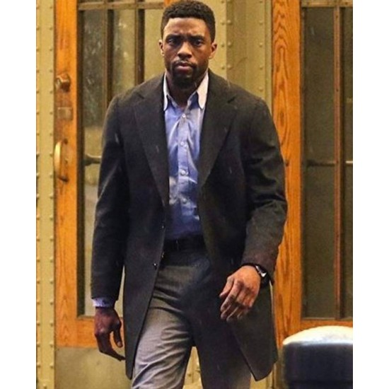 21 Bridges Movie Chadwick Boseman Black Coat