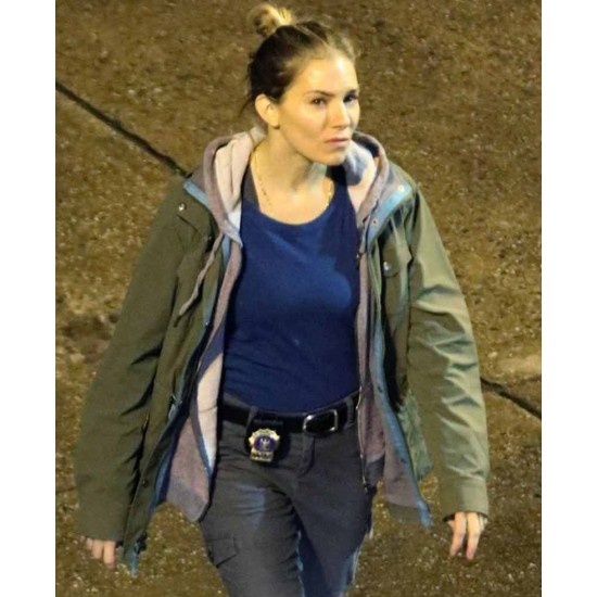 21 Bridges Sienna Miller Green Jacket with Hood