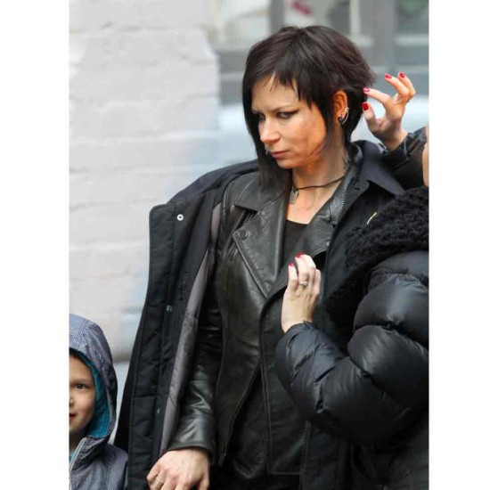 24 Live Another Day Mary Lynn Rajskub Black Leather Jacket