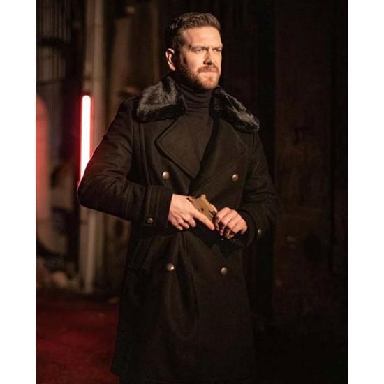 50M2 Engin Ozturk Black Wool Coat