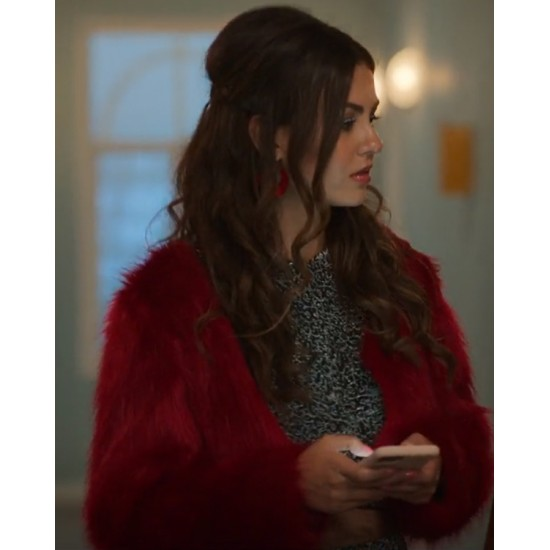 Afterlife of the Party 2021 Cassie Red Fur Jacket