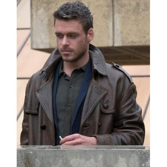 Eternals 2021 Ikaris Brown Leather Coat