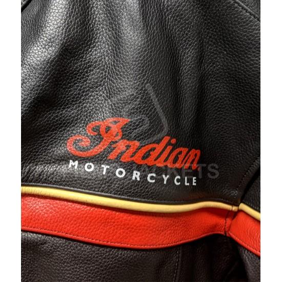 Indian Freeway Motorcycle Black Leather Jacket