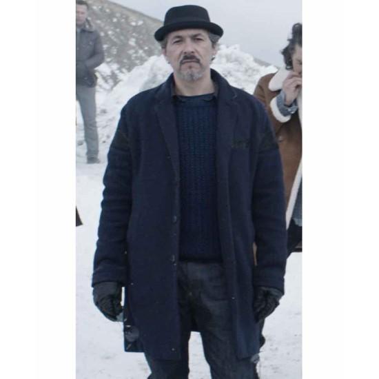 Cold Pursuit Jim Shield Blue Wool Coat