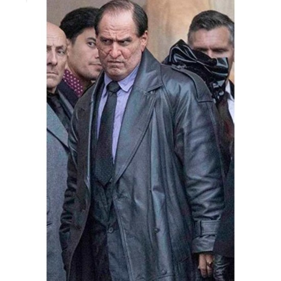 The Batman 2022 The Penguin Leather Coat