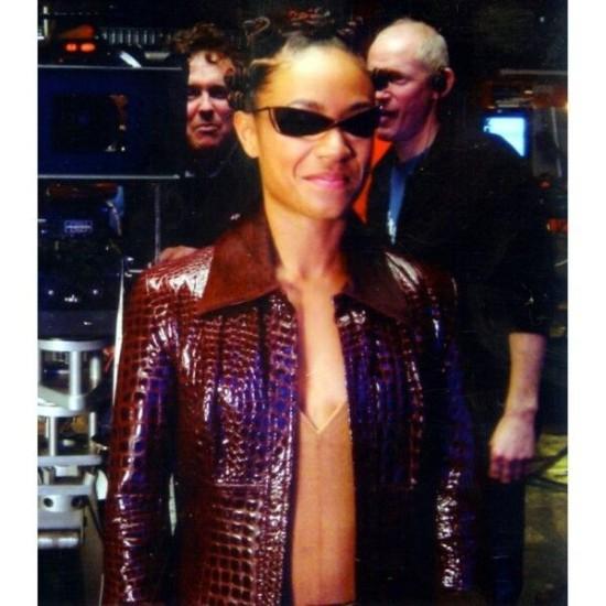 The Matrix 4 Niobe Women Red Leather Jacket