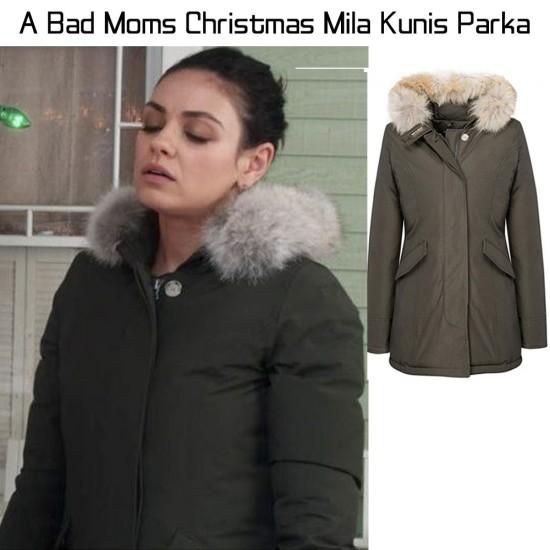 A Bad Moms Christmas Mila Kunis Green Parka