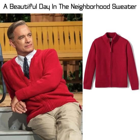 A Beautiful Day In The Neighborhood Red Sweater