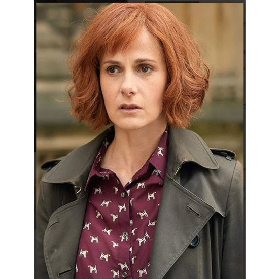 A Discovery of Witches Louise Brealey Cotton Grey Coat