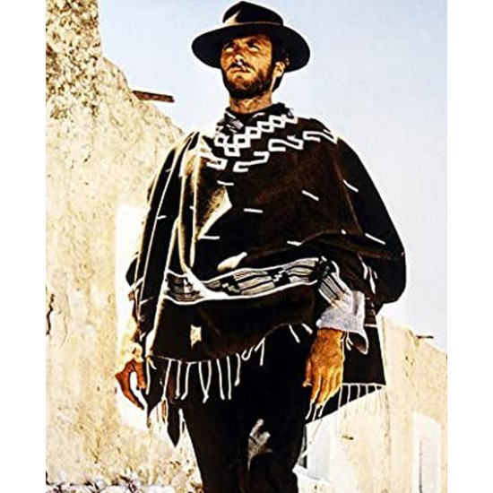A Fistful Of Dollars Man With No Name Cowboy Western Poncho