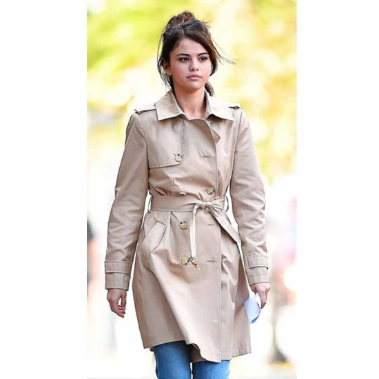 A Rainy Day in New York Selena Gomez Belted Coat