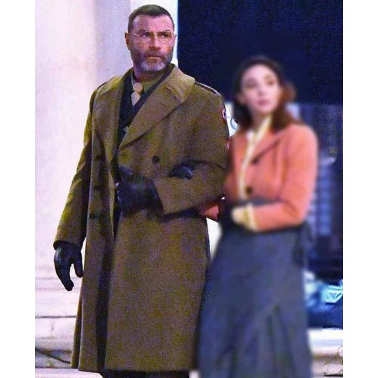 Across the River and Into the Trees Liev Schreiber Wool Coat