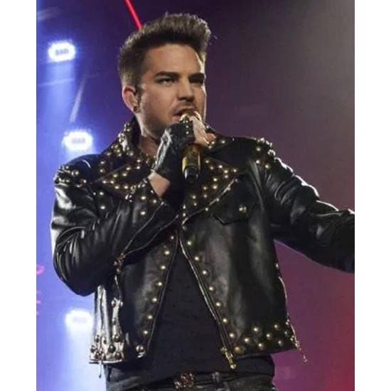 Adam Lambert Studded Leather Jacket