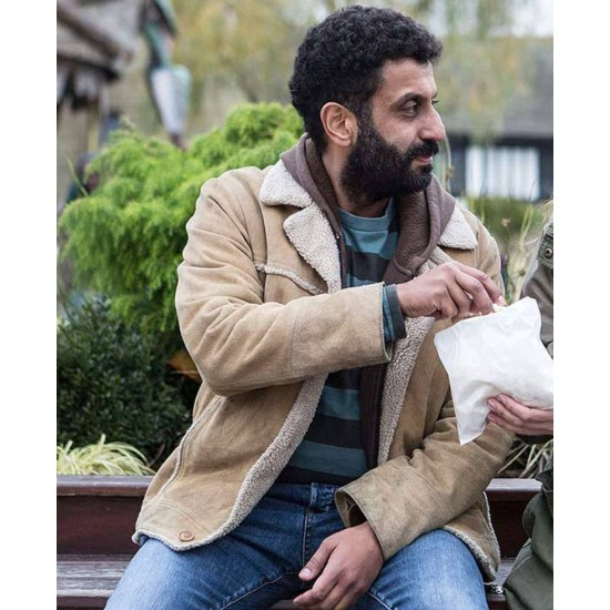 Adeel Akhtar Back To Life Brown Jacket