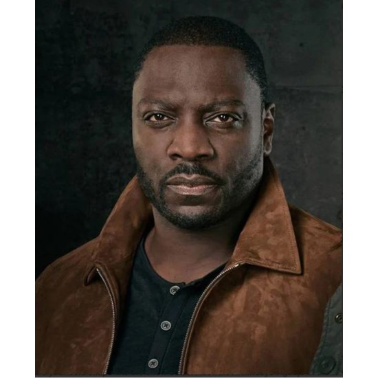 Adewale Akinnuoye Agbaje The Fix Suede Leather Jacket